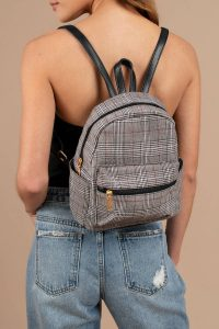 tobi.com - adore you multi glen plaid backpack
