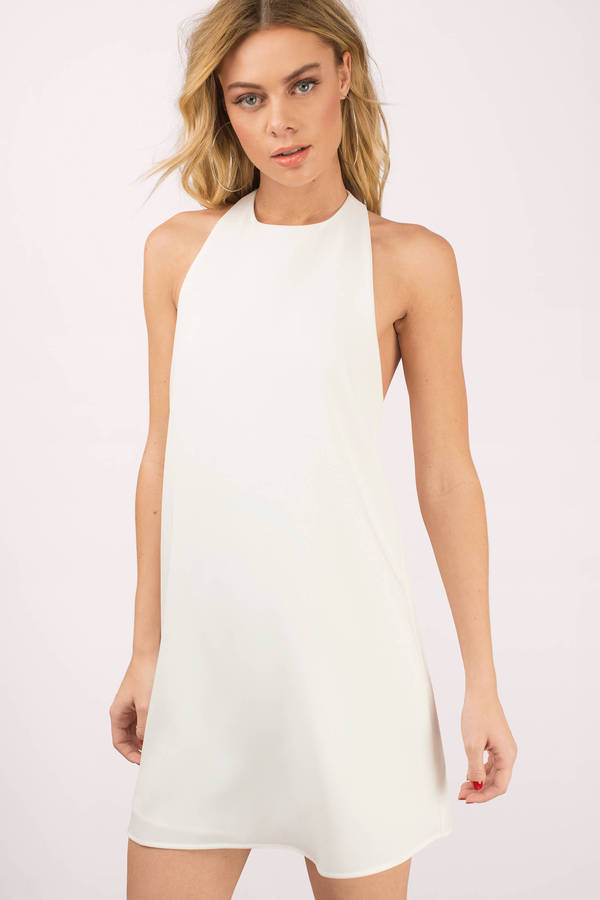 tobi.com high neck sleeveless revelry halter shift dress