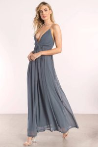 tobi.com jamee plunging maxi dress in slate