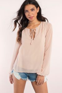 tobi.com - long sleeve blouse with peasant sleeves