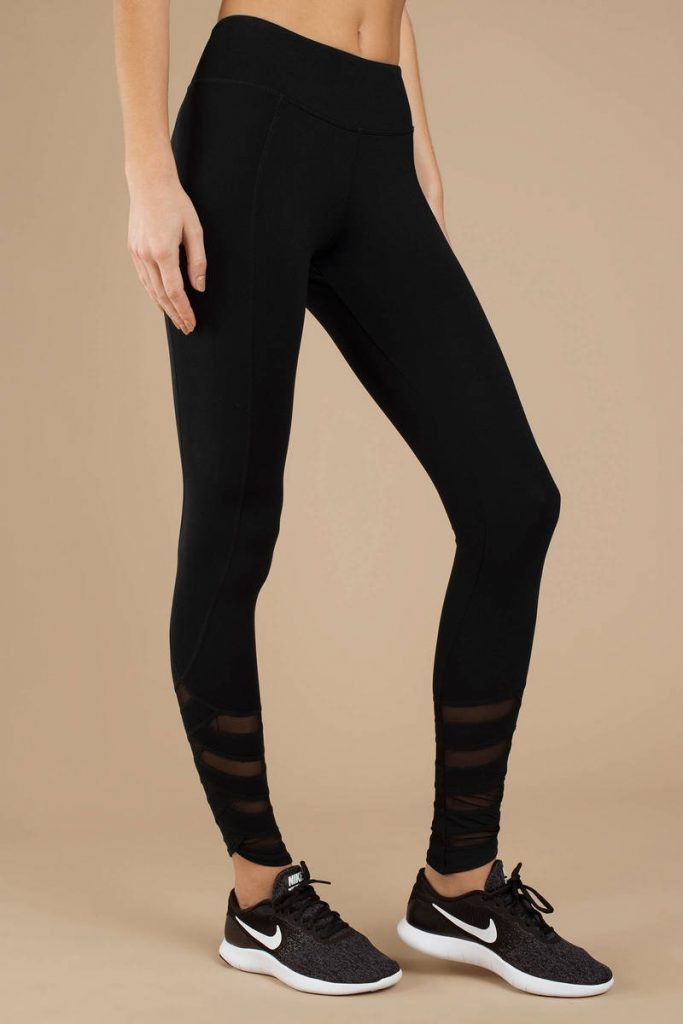 tobi.com - gorgeous gal high rise mesh detailed leggings