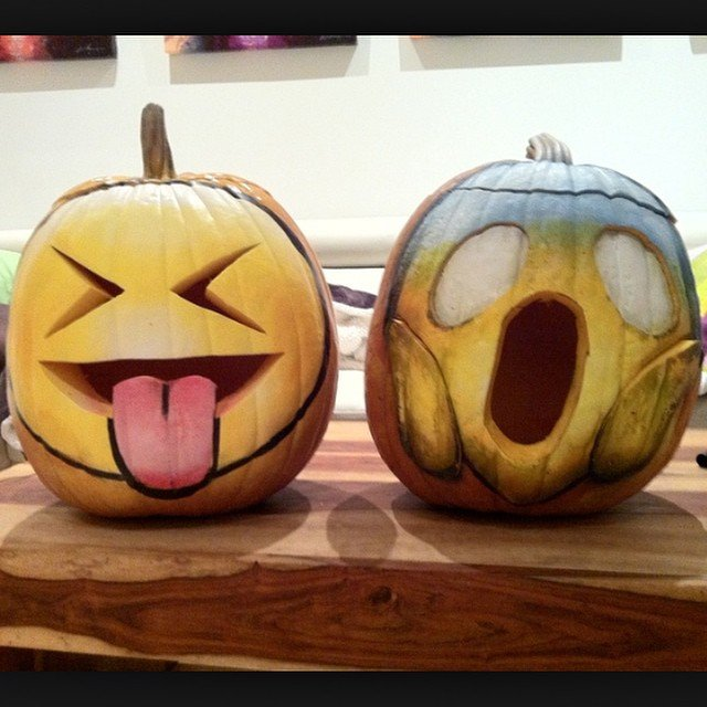emoji pumpkin carving