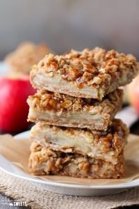 apple crumb bars fall desserts recipe