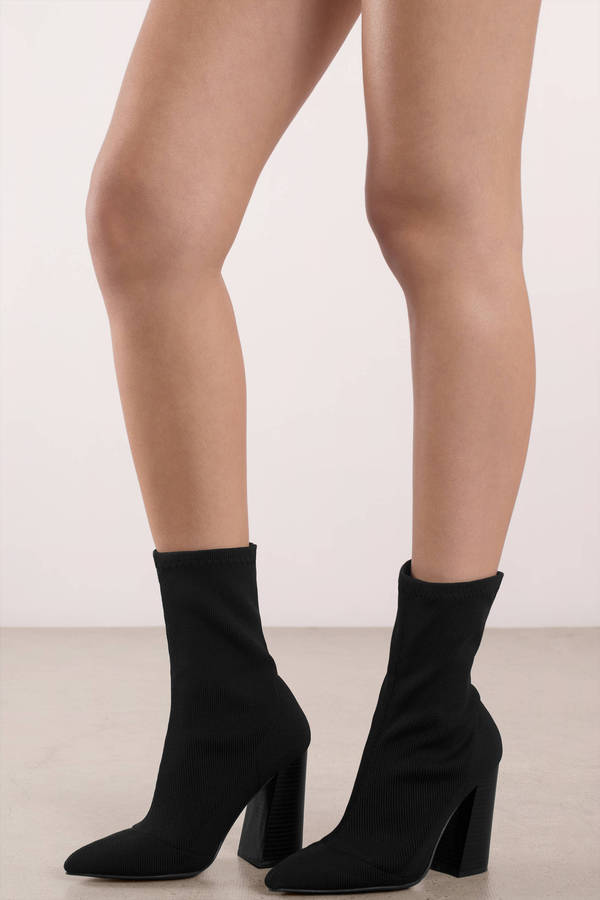 black-ariana-knit-sock-booties