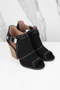 Tobi.com - Black Barnes Side Cut Out Ankle Booties
