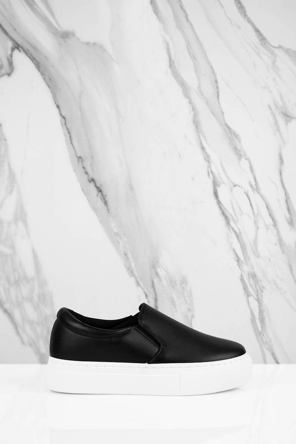 black-blaire-pleather-slip-on-sneakers