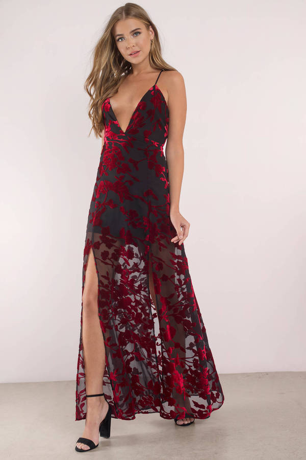 Tobi.com - Burning Down The House Burnout Velvet Maxi