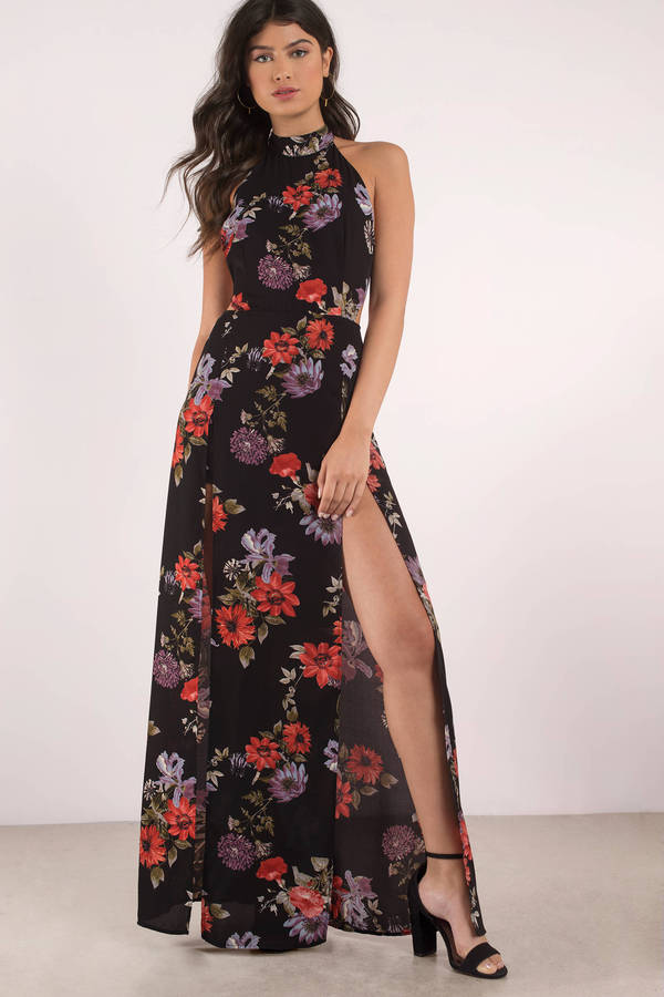 Tobi.com - At Twilight Floral Print Maxi Dress