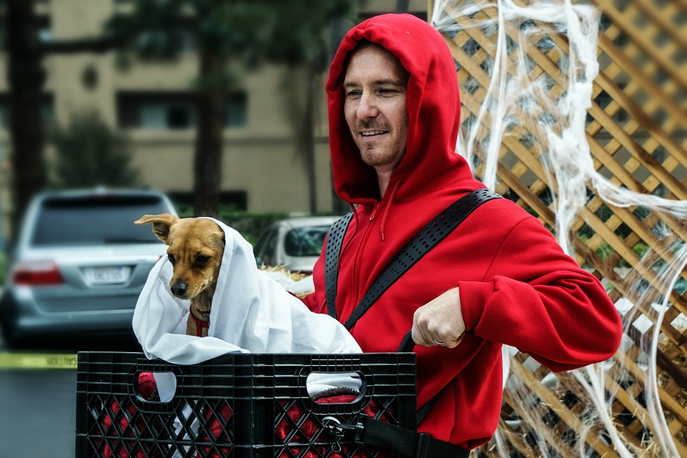 ET dog and human costume diy