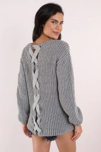 tobi.com getting warmer lace up sweater