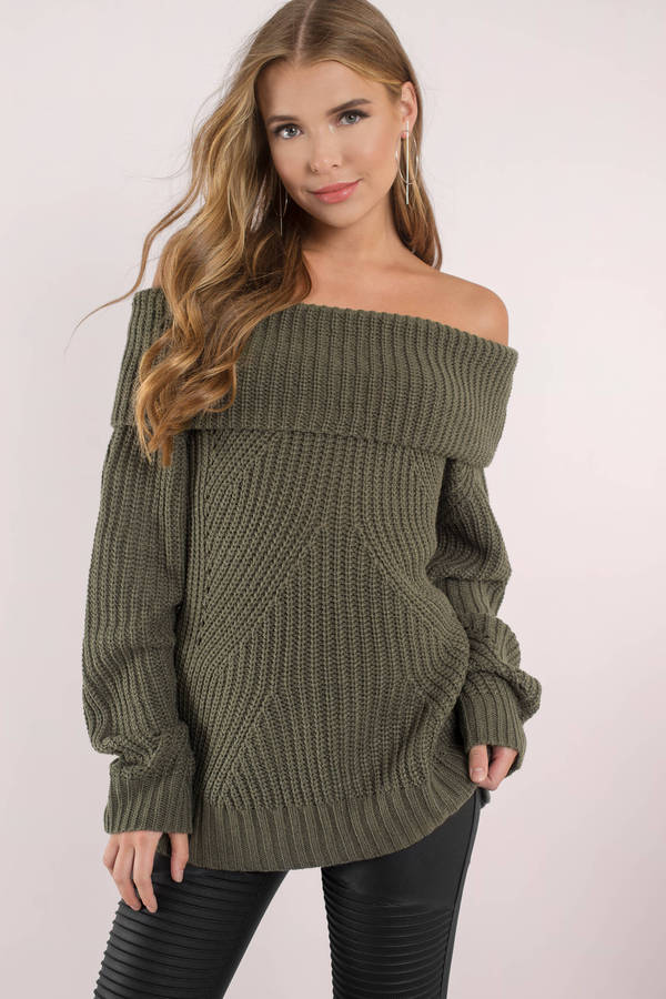 olive-the-chills-off-shoulder-sweater