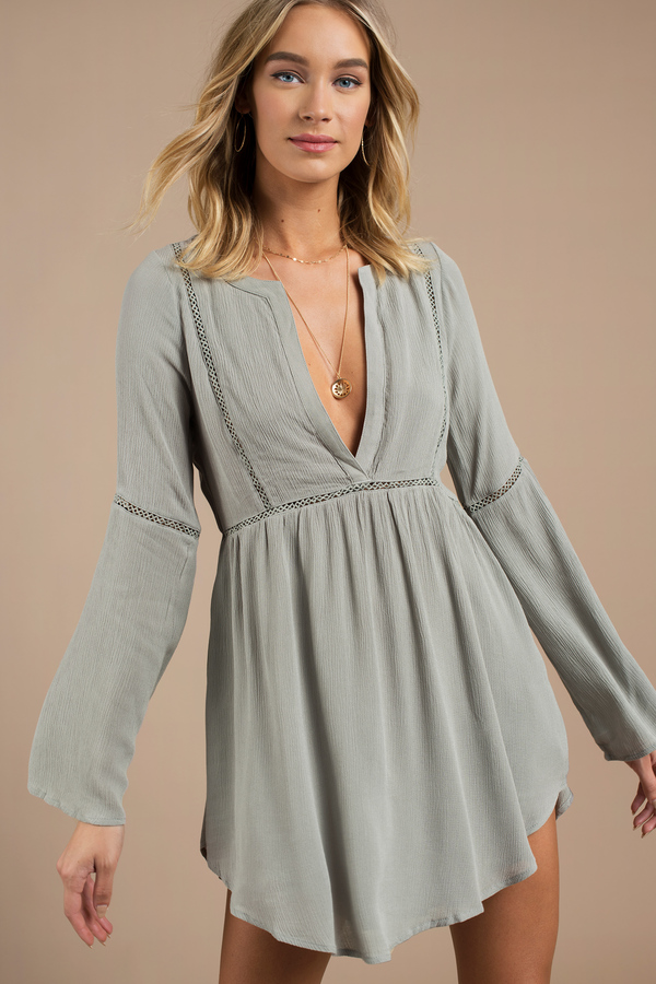 olive-trina-plunging-shift-dress