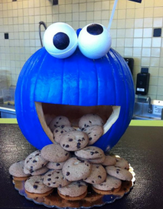 cookie monster pumpkin carving