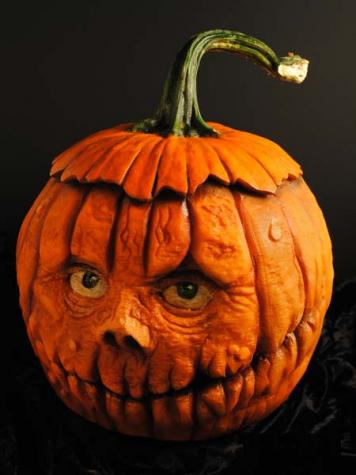 creepy pumpkin carving face