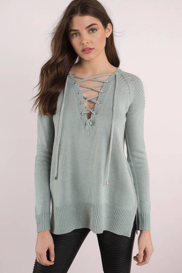 vintage-blue-be-on-my-side-lace-up-sweater