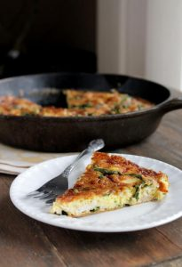 leftover turkey recipes- turkey frittata