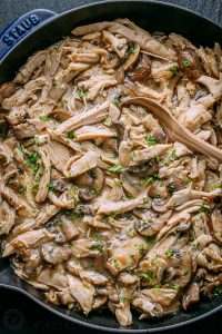 leftover turkey recipes- turkey mushroom gravy sauce