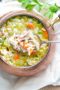 leftover turkey recipes- wild rice turkey soup