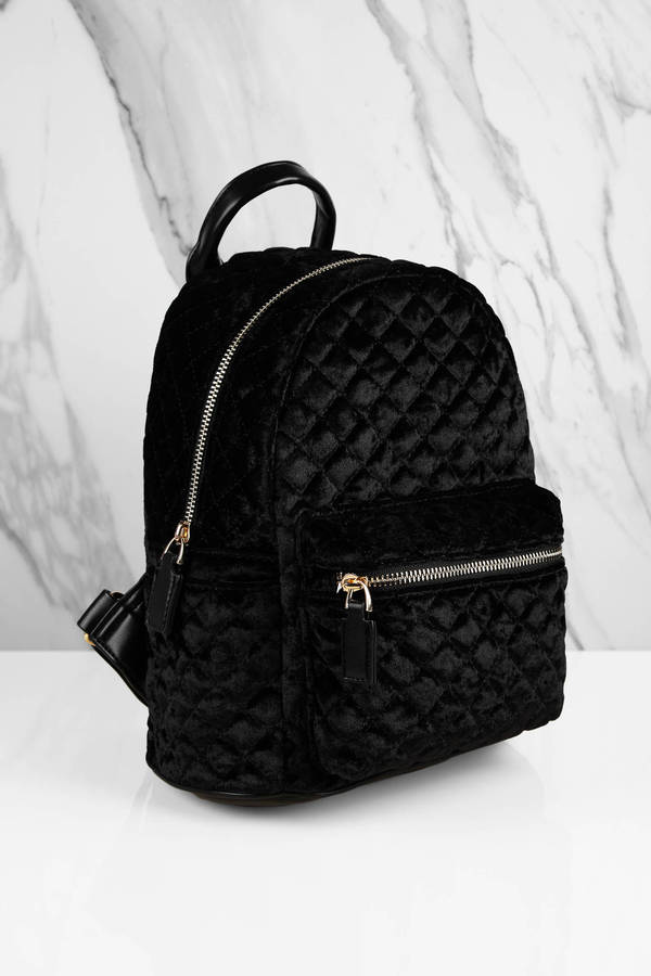 black-cleo-velvet-backpack