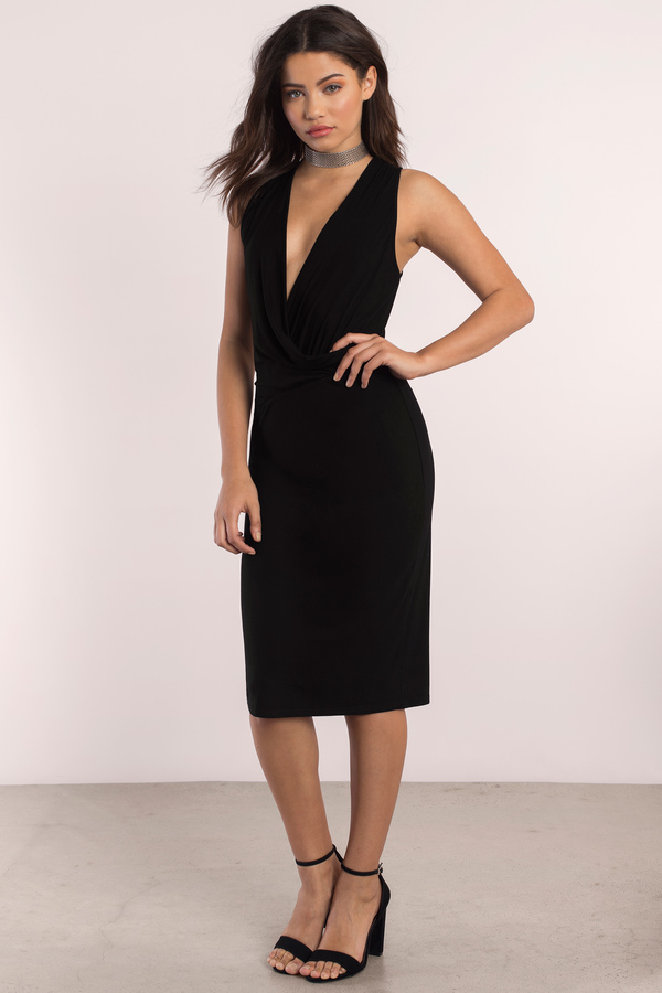 black-heroes-draped-midi-dress