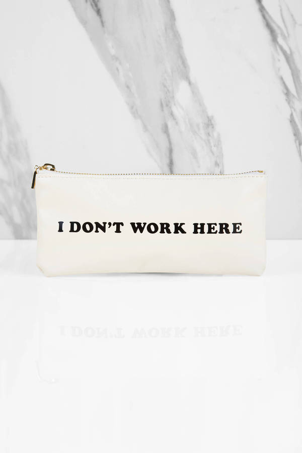 i dont work here pouch small
