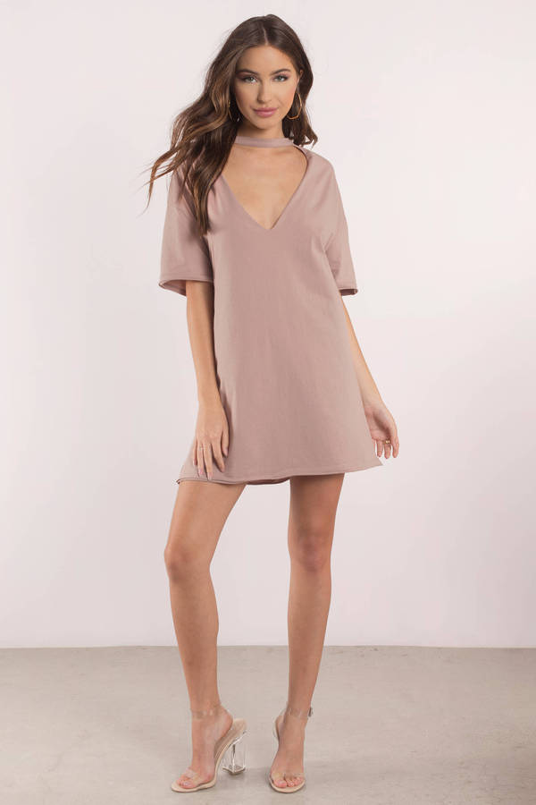 natural-mine-forever-plunging-neckline-tee-dress