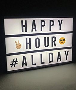 The Nifty Nook Home Trend Mini LED Electric Message Lightbox Letter Emoji DIY Cinema Sign Board