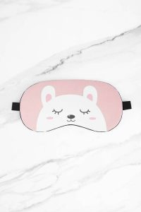 tobi pink bear necessities sleep mask