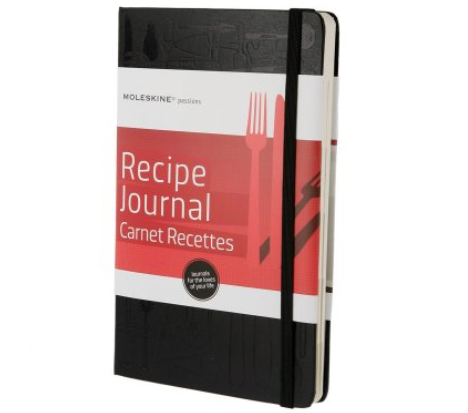 moleskin recipe journal in black