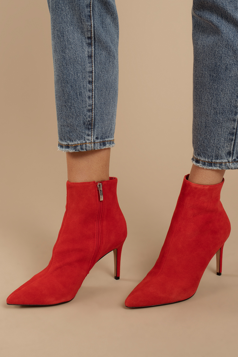 ultimate holiday gift guide for girlfriend red suede booties