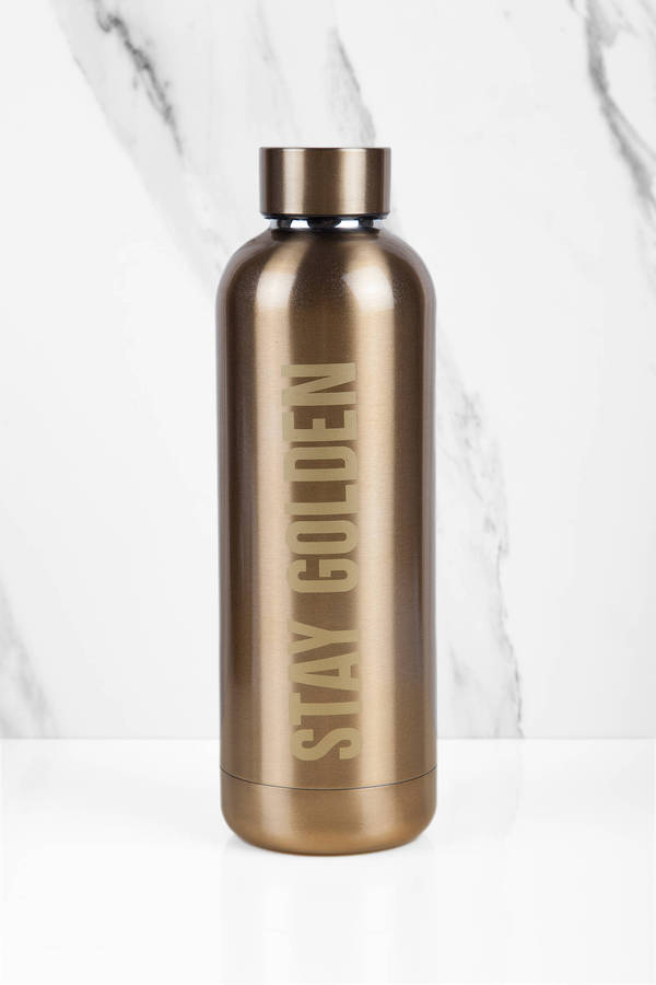 midway stay golden insulated water bottle