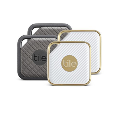 tile 2 pack in grey and white gold