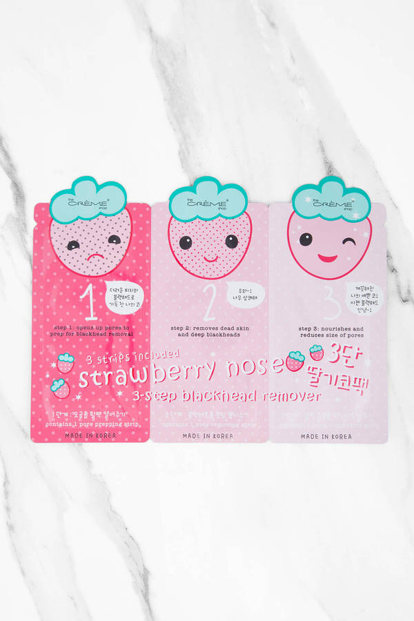Tobi.com - SIMPLE STRAWBERRY 3 STEP NOSE PACK