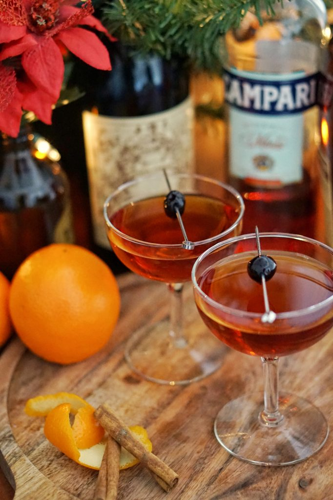 DIY Spiced Bourbon & Boulevardier Cocktail Recipe