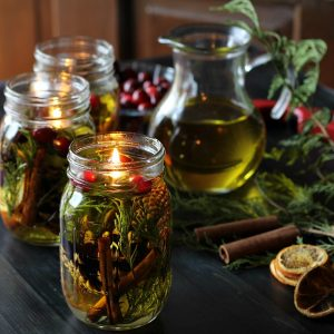 diy holiday gifts: mason jar oil candle lamp