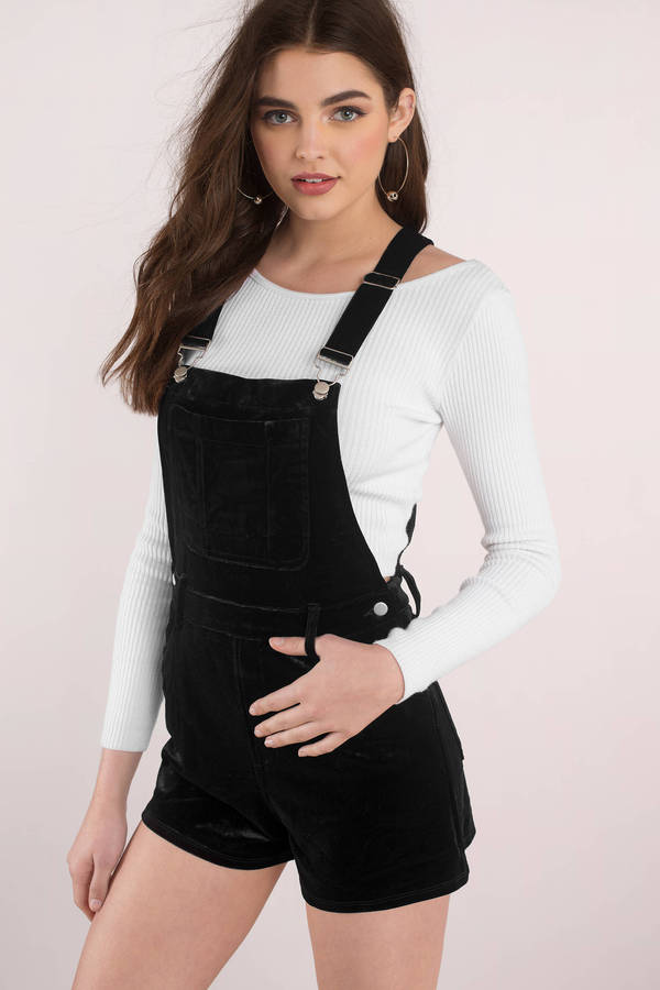tobi.com - on another level velvet overalls