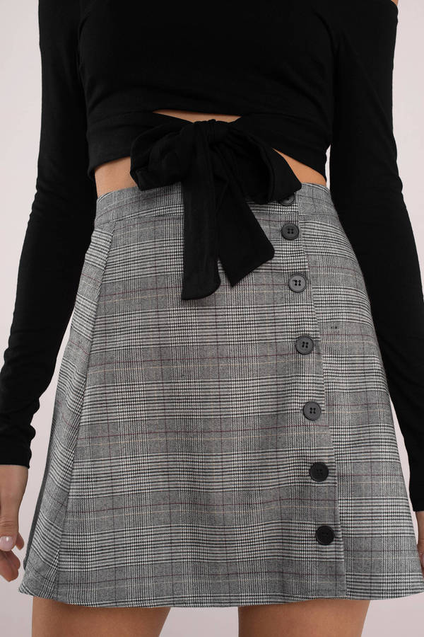 grey-as-if-plaid-button-up-skirt