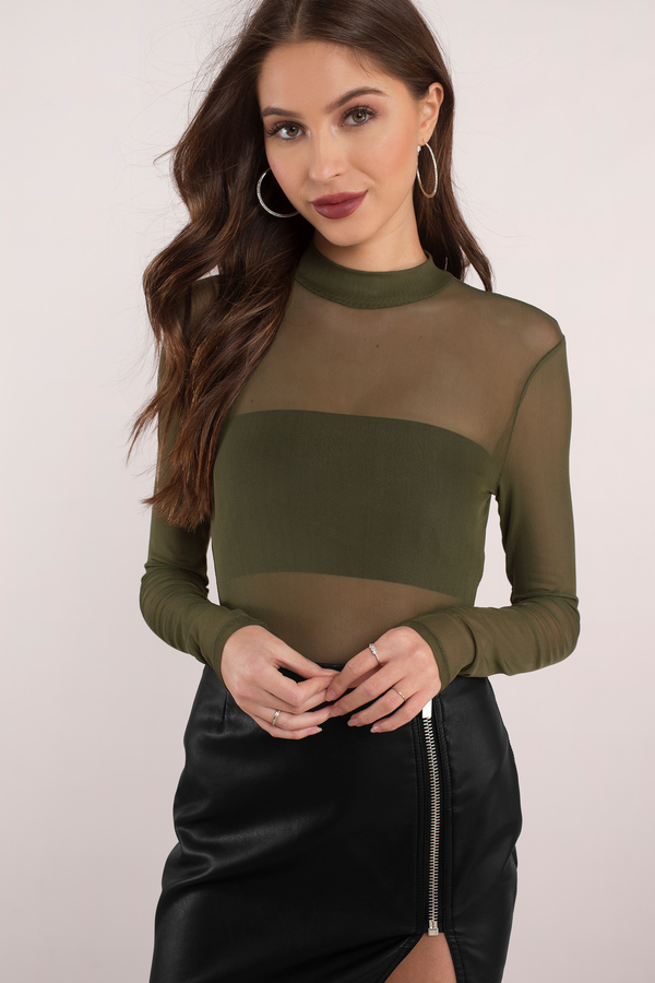 olive-mesh-is-more-mock-neck-bodysuit