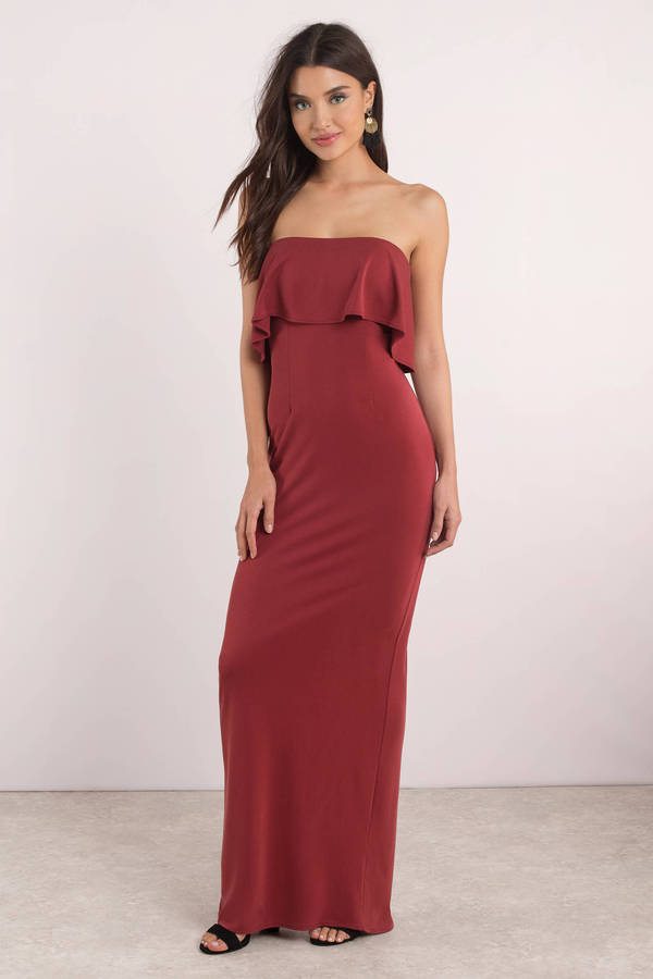 tobi-red-milan-suede-maxi-dress