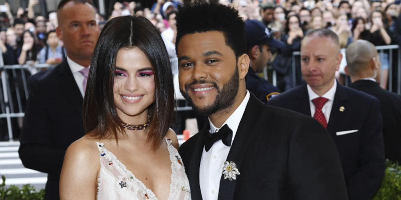 selena + weeknd red carpet