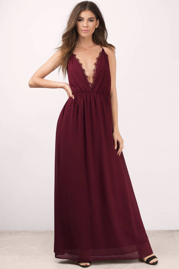abegayle wine maxi dress
