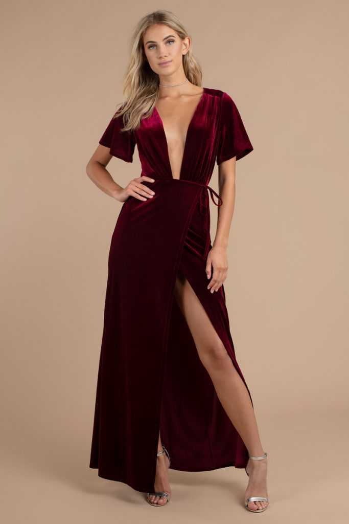 tobi.com - penelope plunging maxi dress