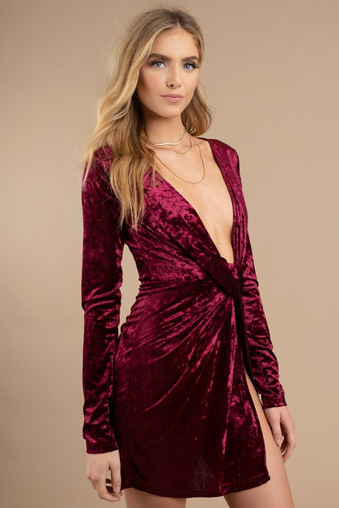 tobi.com - velvet snow bodycon dress