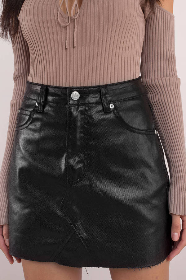 tobi-black-bad-to-the-bone-coated-denim-skirt
