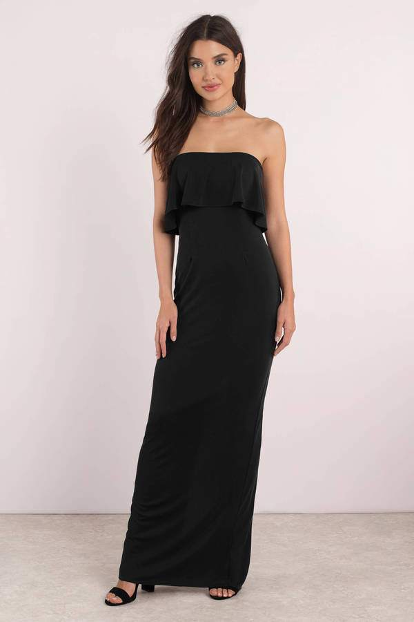 tobi-black-milan-suede-maxi-dress