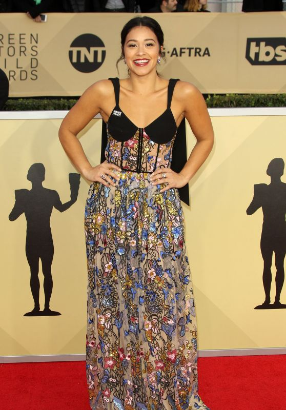 Actress Gina Rodriguez at the 2018 SAG Awards