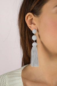 Shop the SERENA GREY TASSEL EARRINGS at tobi.com!