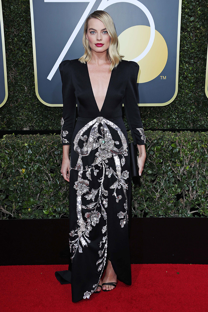 Mandatory Credit: Photo by REX/Shutterstock (9307701hm) Margot Robbie 75th Annual Golden Globe Awards, Arrivals, Los Angeles, USA - 07 Jan 2018