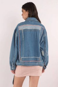 tobi.com - essue demi denim moto jacket
