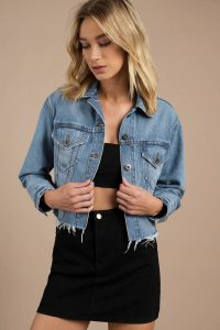tobi.com - pistola maverick cropped denim jacket